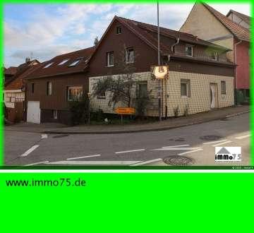 2 Familienhaus mit uneinsehbarer XXL-Terrasse, Werkstatt, Garage, 75210 Keltern, Zweifamilienhaus