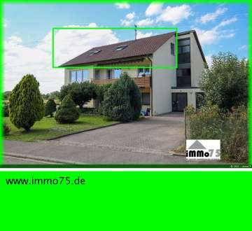 gemütliche 3 Zimmer Dachgeschosswohnung +Garten +Stellplatz +Feldrandlage, 75447 Sternenfels, Dachgeschosswohnung